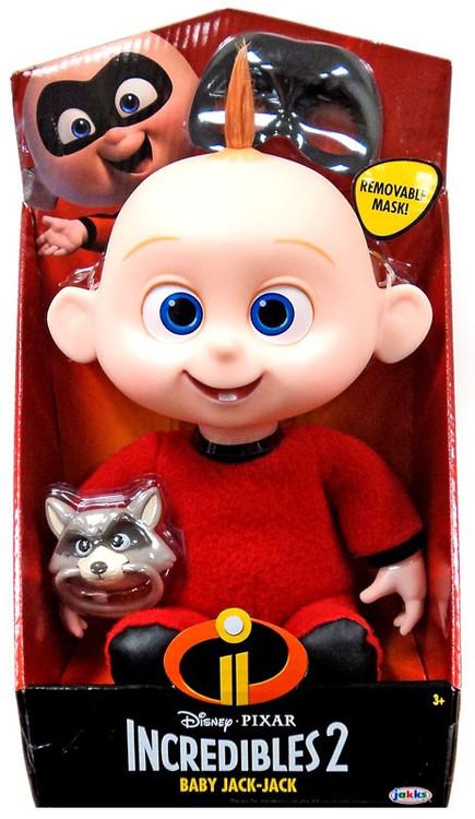 Disney Pixar Incredibles 2 Baby Jack Jack Plush Doll Jakks