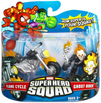 Hasbro Marvel Super Hero Squad Series 7 Ghost Rider & Fla...