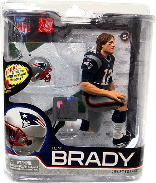 McFarlane Toys NFL New England Patriots Sports Picks Series 27 Tom Brady Action Figure Blue