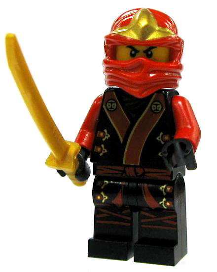 Lego Ninjago Kai Minifigure [Black & Red Garb Loose]