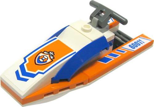 Lego City White, Blue & Orange Waverunner Loose Vehicle [...