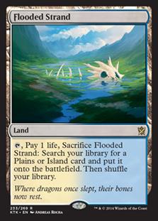 Wizards Of The Coast MtG Khans of Tarkir Rare Flooded Strand #233
