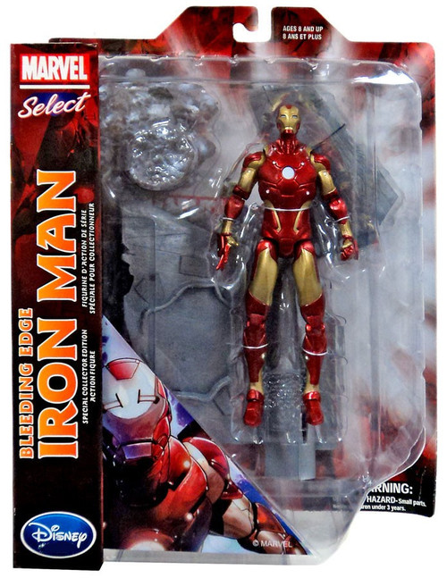 Marvel Iron Man Marvel Select Bleeding Edge Iron Man Exclusive 7 Action Figure Diamond Select Toys - ToyWiz