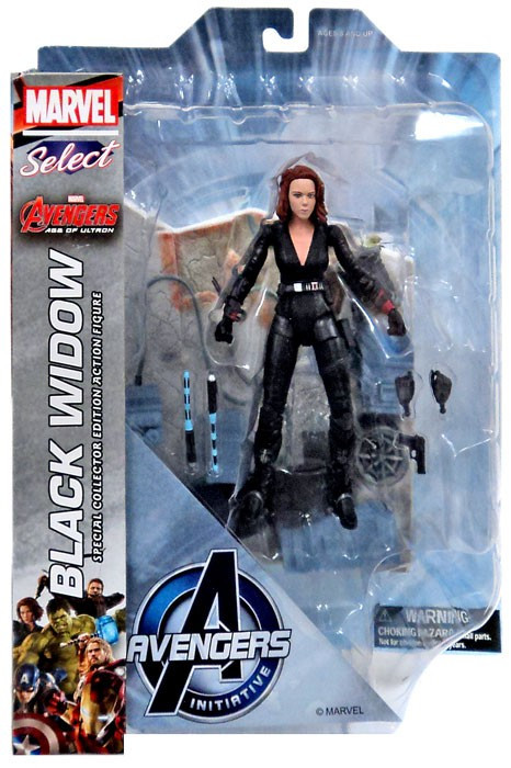 Diamond Toys Avengers Age of Ultron Marvel Select Black W...