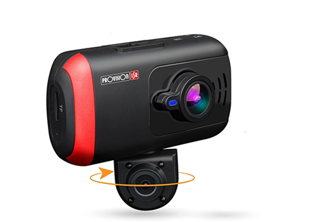 Dual Dash Cam, Rotatable Inner Camera, Night Vision, Wireless
