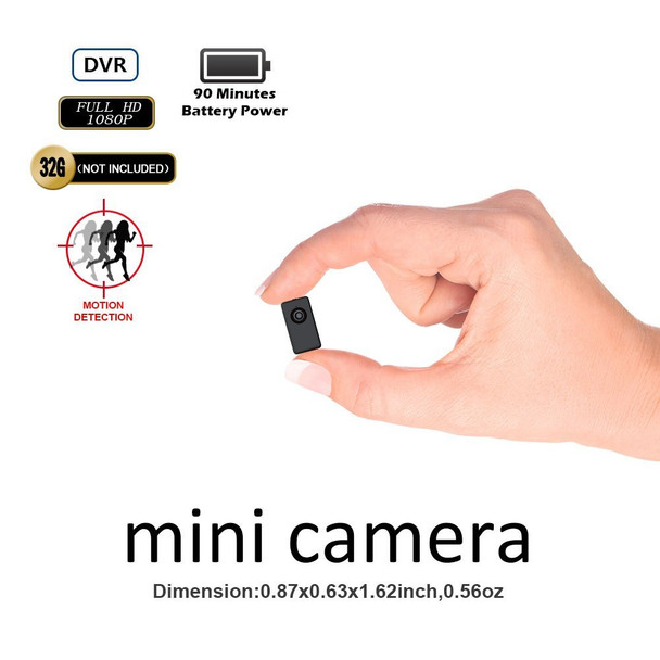 Mini DVR Tinny Size 1080P FHD Body-worn Camera Recorder Support 90 Minutes Continuous And Motion Detection Recording