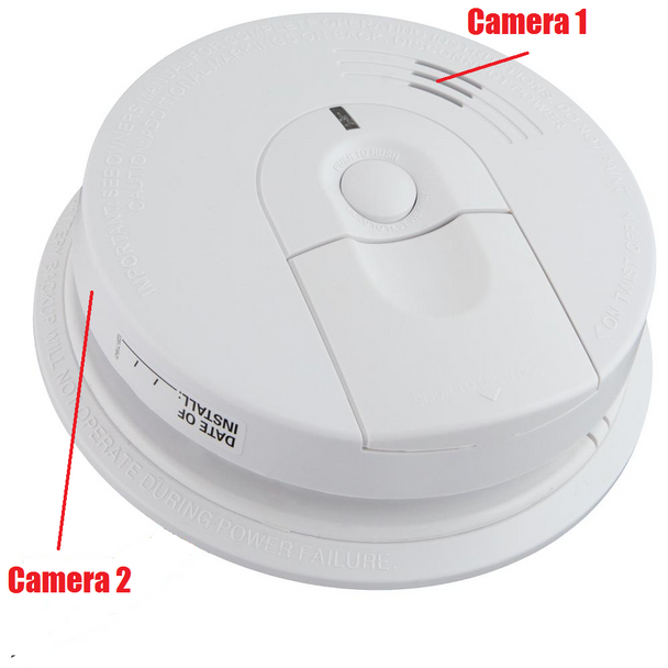 Kidde Smoke Detector Nanny Camera Dvr With Wireless Streaming Video for Iphone, Tablet and More With Duel Cameras