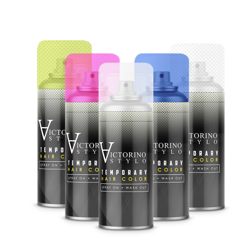 Temporary Hair Color Spray On - 5 Color Pack