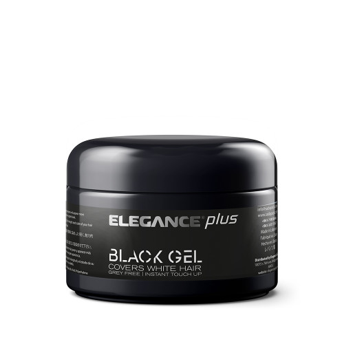 Hair gel with strong hold that also covers white hair.