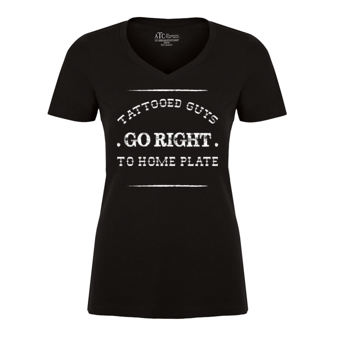 Women'S Tattooed Guys Go Right To Home Plate - Tshirt
