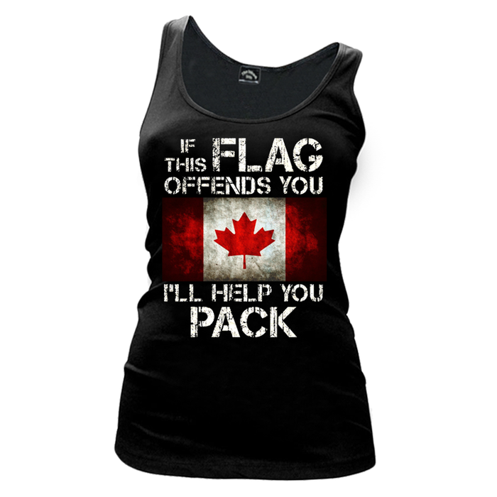 Women'S If This Flag Offends You (Canada) - Tank Top