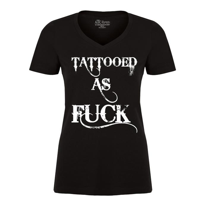 Women'S Tattooed As Fuck - Tshirt