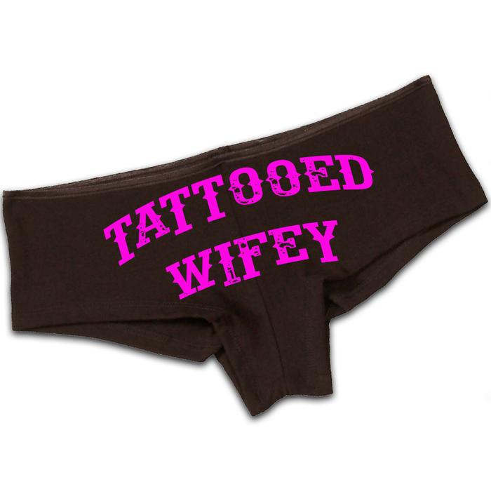 Women'S Tattooed Wifey - Booty Shorts