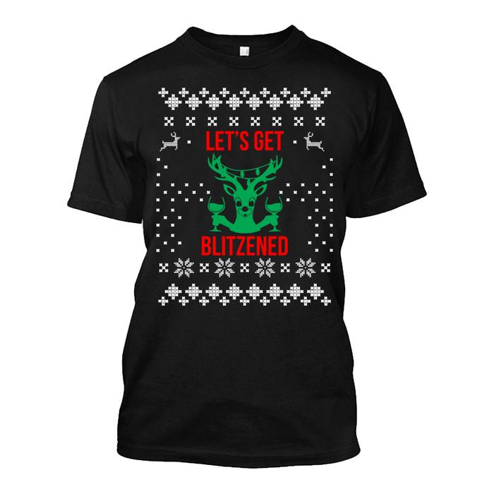 Men'S Let'S Get Blitzened - Tshirt
