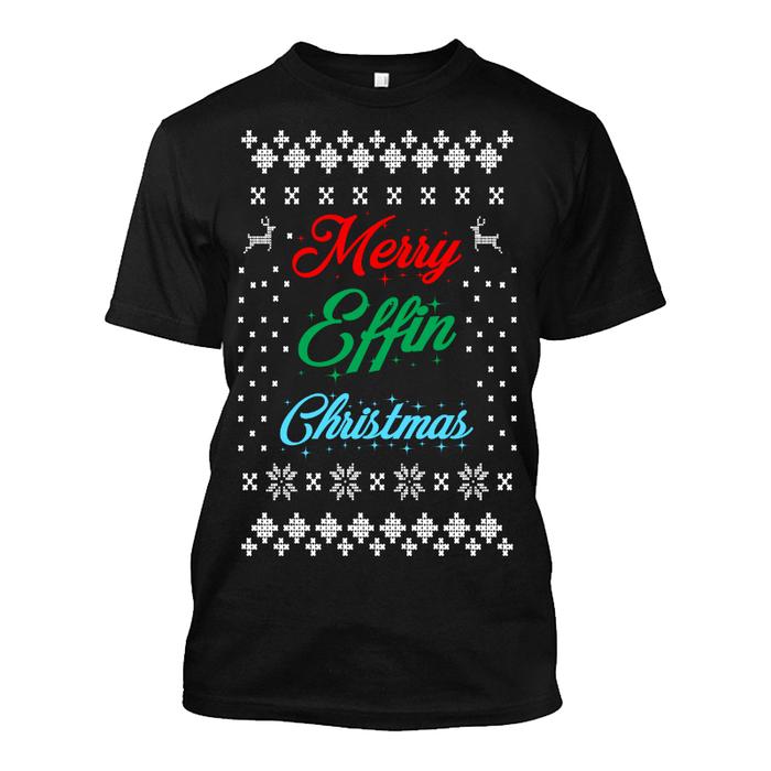 Men'S Merry Effin Christmas - Tshirt