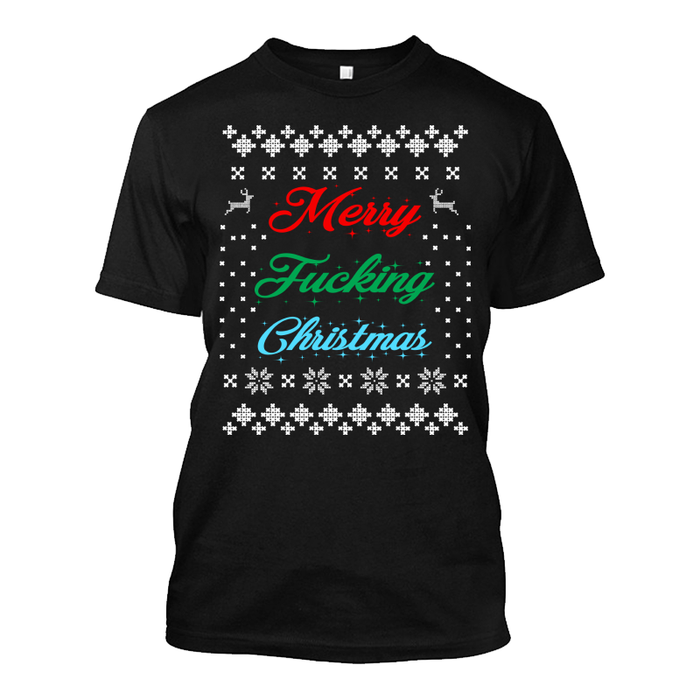 Men'S Merry Fucking Christmas - Tshirt