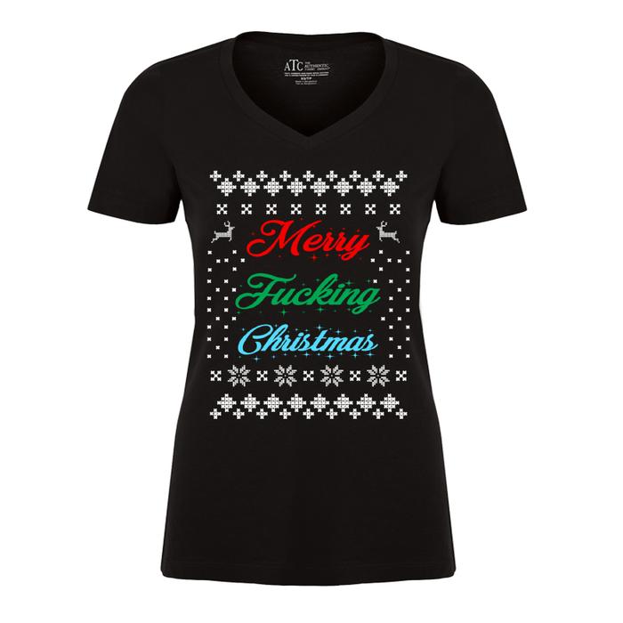 Women'S Merry Fucking Christmas - Tshirt