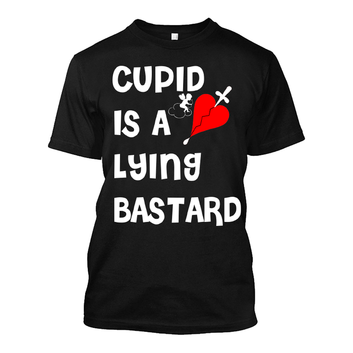 Men'S Cupid Is A Lying Bastard - Tshirt