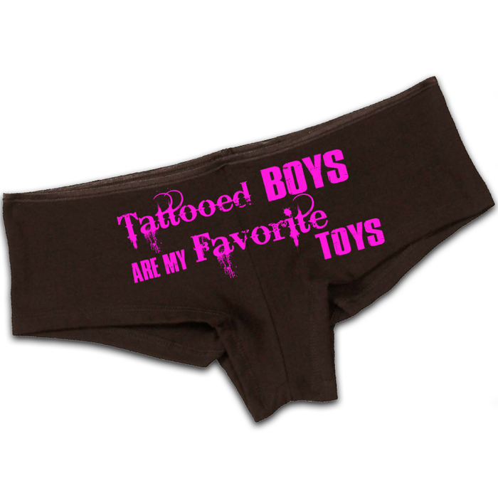 Women'S Tattooed Boys Are My Favorite Toys - Booty Shorts