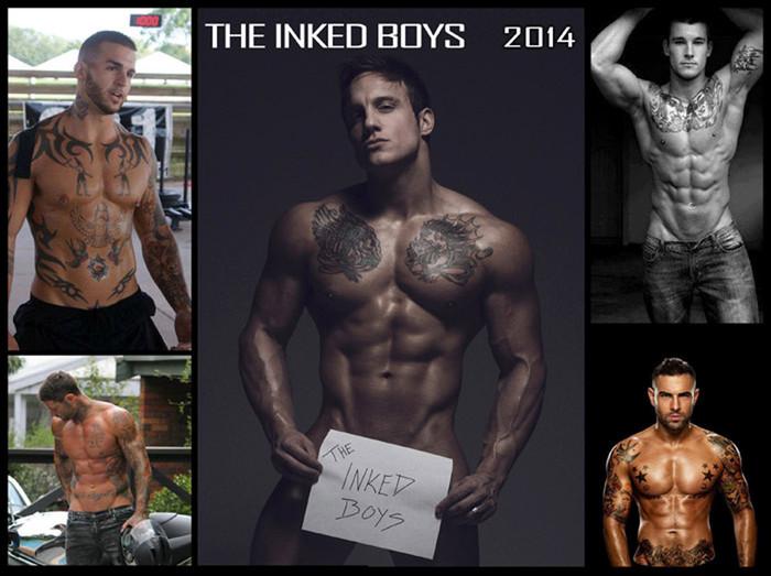 The Inked Boys Calendar 2014