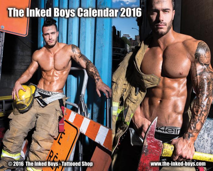 The Inked Boys Calendar 2016