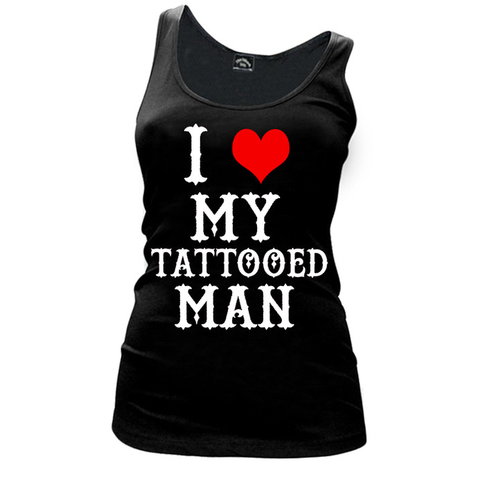 Women'S I Heart My Tattooed Man - Tank Top
