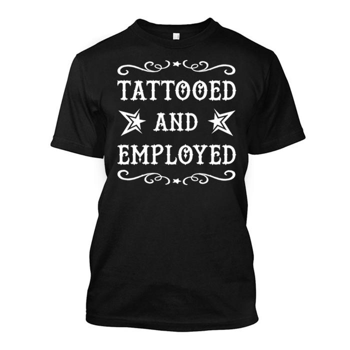 Men'S Tattooed And Employed - Tshirt