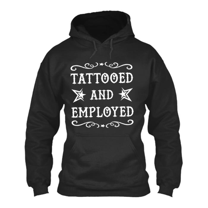 Men'S Tattooed And Employed - Hoodie