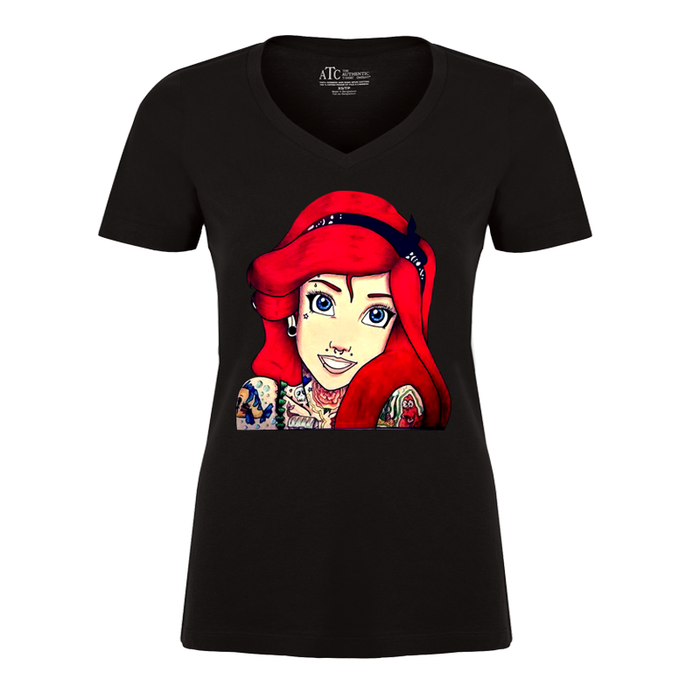 Women'S Tattooed Ariel2 (Disney) - Tshirt
