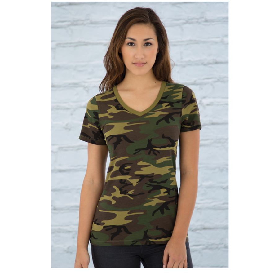 Women'S Green Camo - Tshirt