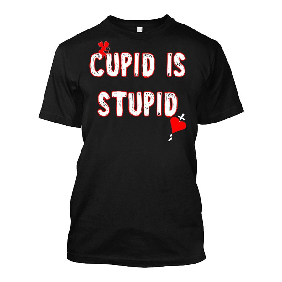 Men'S Cupid Is  Stupid - Tshirt