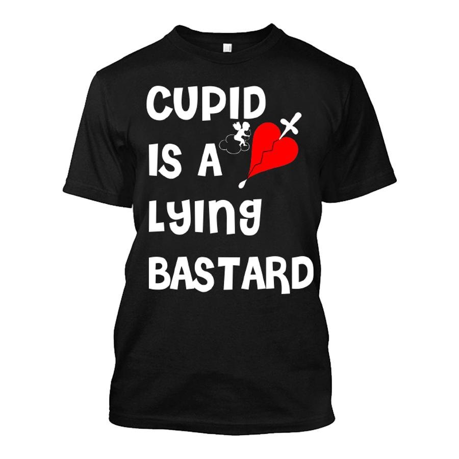 Men'S Cupid Is A Lying Bastard - Tshirt