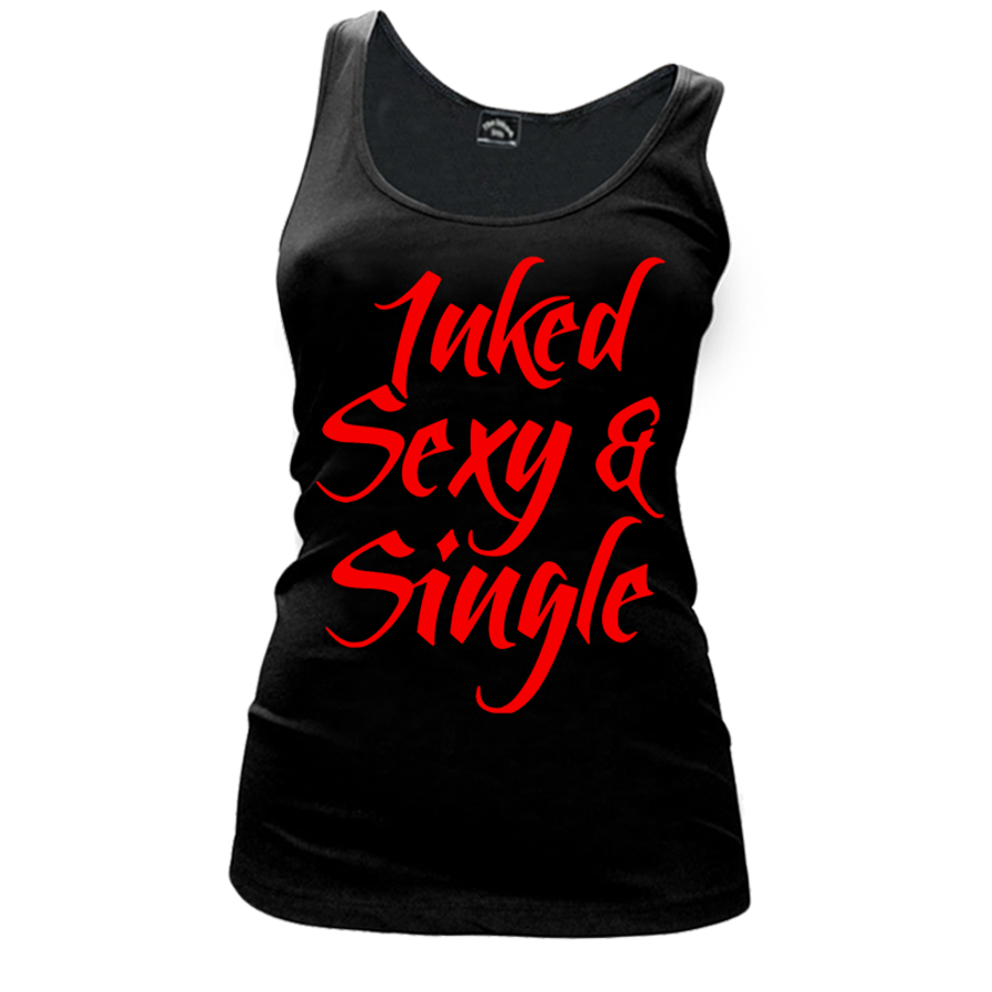 Women'S Inked Sexy And Single - Tank Top