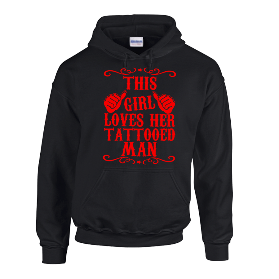 Women'S This Girl Loves Her Tattooed Man - Hoodie