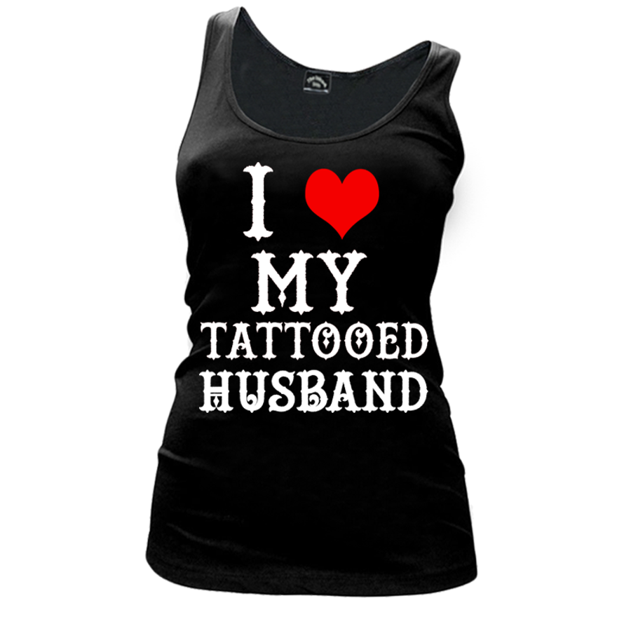 Women'S I Heart My Tattooed Husband - Tank Top