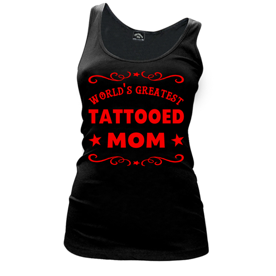 Women'S World'S Greatest Tattooed Mom - Tank Top