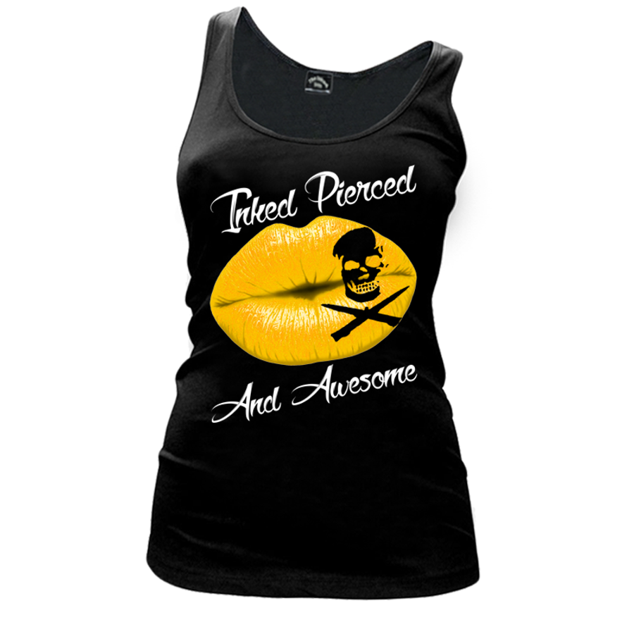 Women'S Inked Pierced And Awesome - Tank Top