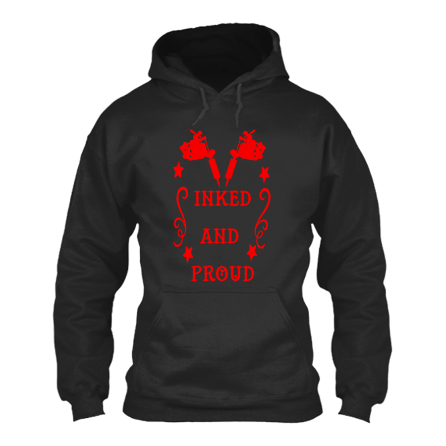 Men's INKED AND PROUD - HOODIE