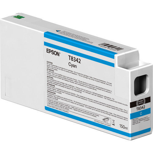 Epson T834200 UltraChrome HD Cyan Ink Cartridge (150ml)
