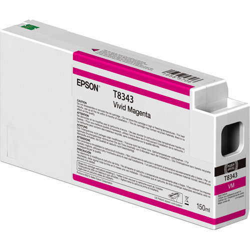 Epson T834300 UltraChrome HD Vivid Magenta Ink Cartridge (150ml)