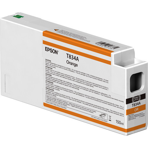 Epson T834A00 UltraChrome HDX Orange Ink Cartridge (150ml)