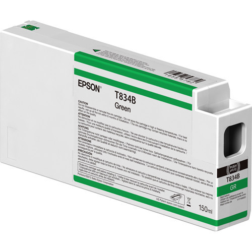 Epson T834B00 UltraChrome HDX Green Ink Cartridge (150ml)
