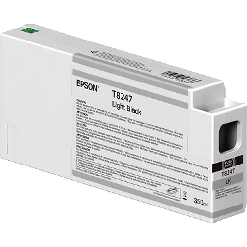 Epson T824700 UltraChrome HD Light Black Ink Cartridge (350ml)