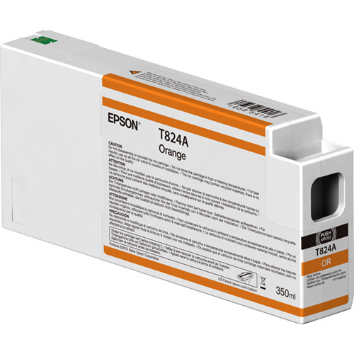 Epson T824A00 UltraChrome HDX Orange Ink Cartridge (350ml)