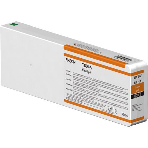 Epson T804A00 UltraChrome HDX Orange Ink Cartridge (700ml)