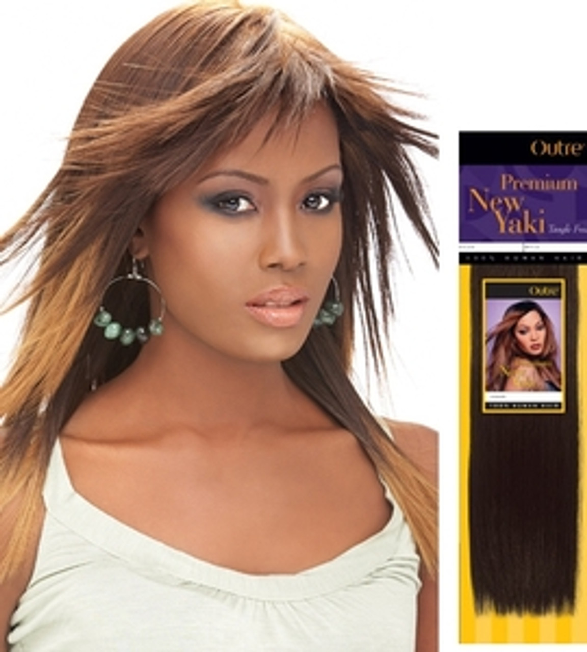 fast and easy hair styles outre premium new yaki human hair weave top hair wigs 9016