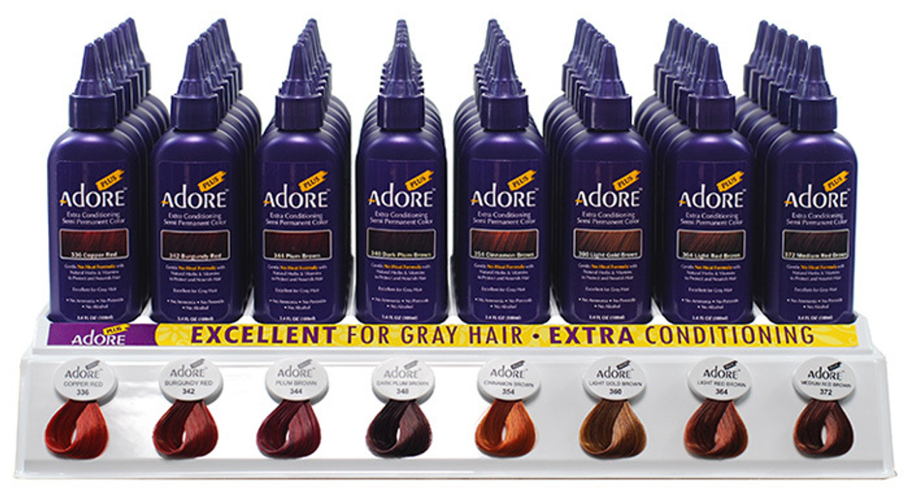 Adore Plus Extra Conditioning Semi Permanent Hair Color 34oz Top