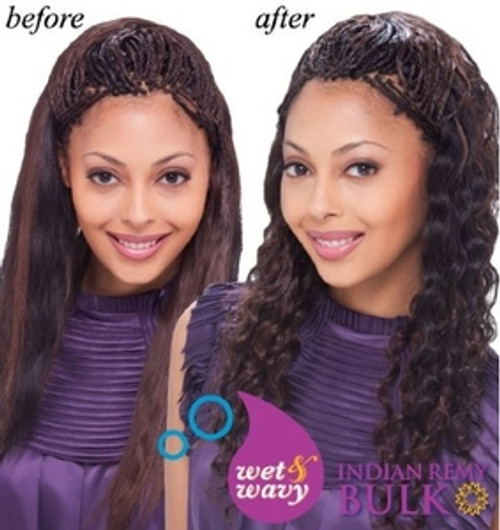 """Janet Collection Indian Remy Human Hair Ripple Deep Bulk 18"""""""