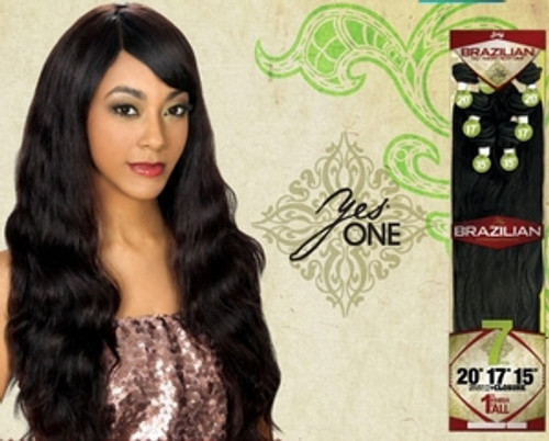Zury Yes One Brazilian Remy Human Hair Weave Straight 20