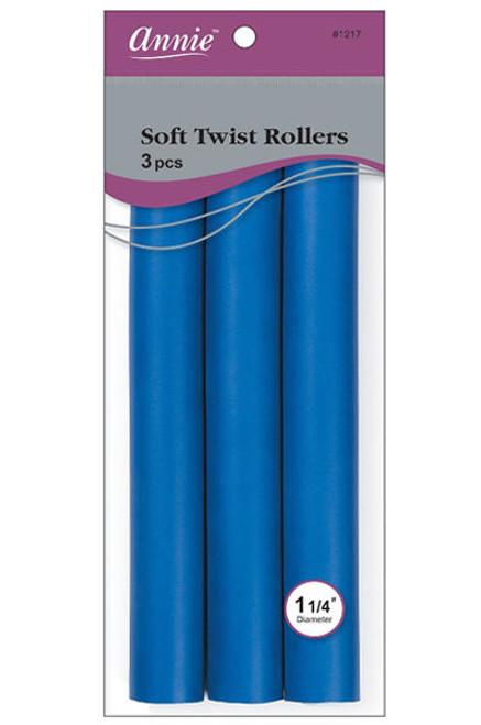 "Annie 10"" Soft Twist Roller Blue 3 pcs #1217"
